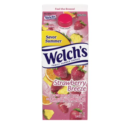 Welch's Strawberry Breeze Juice Cocktail Perspective: front