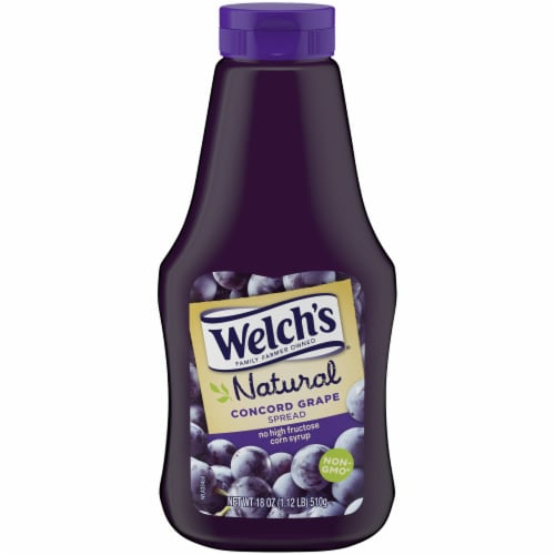 Welch's Natural Concord Grape Spread Sqeeze Bottle Perspective: front