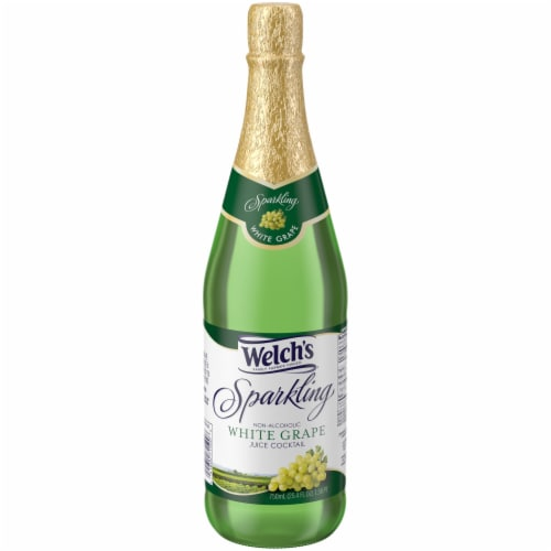 Welch's Sparkling Non-Alcoholic White Grape Juice Cocktail Perspective: front