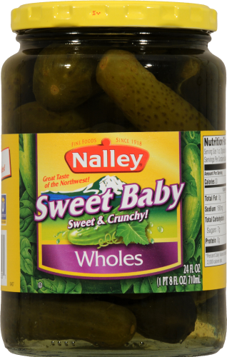 Nalley Sweet Baby Whole Pickles Perspective: front