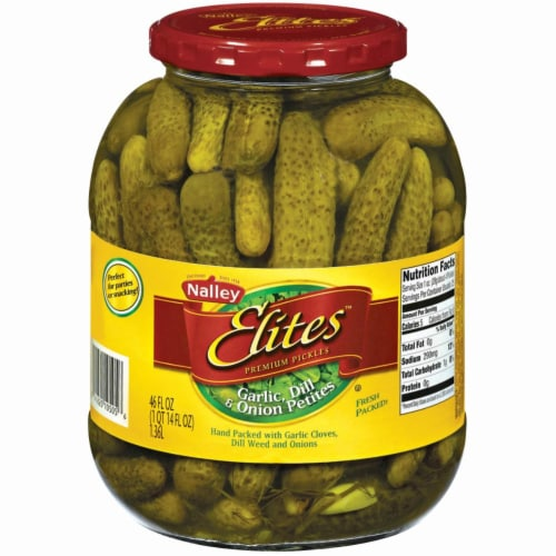 Nalley's Elites Garlic Dill & Onion Petite Pickles Perspective: front