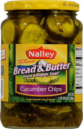 Nalley Bread & Butter Cucumber Chips Perspective: front