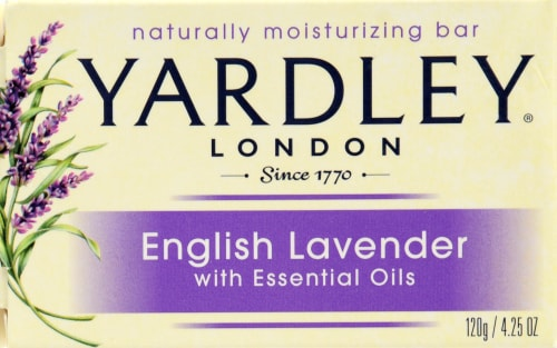 Yardley of London English Lavender Essential Oil Bar Soap Perspective: front