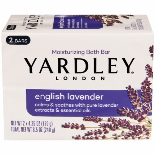 Yardley London English Lavender Bar Soap Perspective: front
