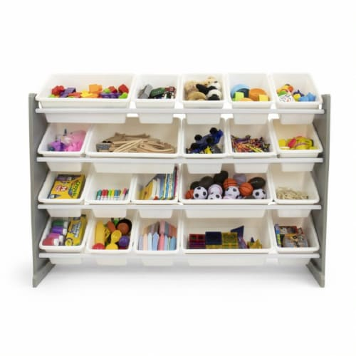 Humble Crew Inspire Extra Large Toy Storage Organizer with Storage Bins - Gray Perspective: front