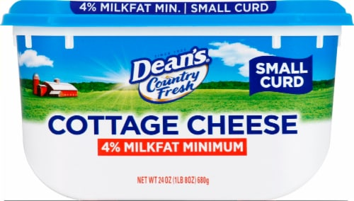 Dean's 4% Milkfat Small Curd Cottage Cheese Perspective: front