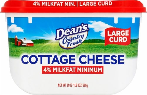 Dairy Pure Country Fresh 4% Milkfat Minimum Large Curd Cottage Cheese Perspective: front