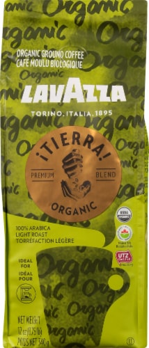LavAzza Tierra Light Roast Organic Ground Coffee Perspective: front