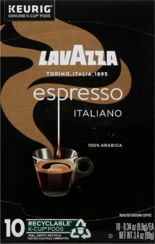 LavAzza Espresso Italiano Ground Coffee KCup Box Perspective: front