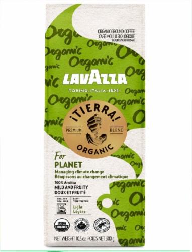 LavAzza Organic Tierra Premium Blend Ground Coffee Perspective: front