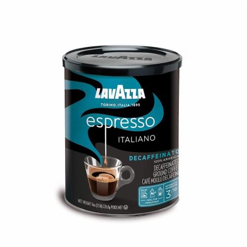 LavAzza Espresso Decaffeinated Medium Roast Ground Coffee Perspective: front