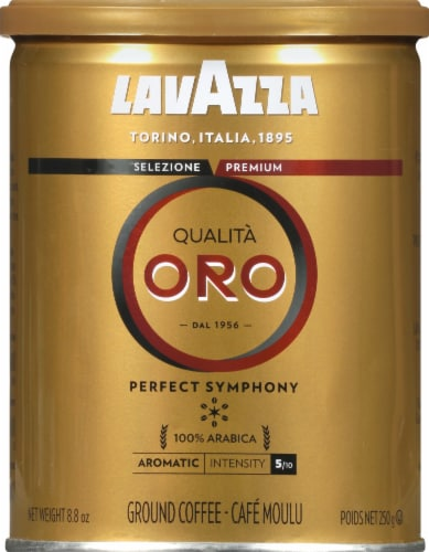 LavAzza Qualita Oro Perfect Symphony Ground Coffee Perspective: front