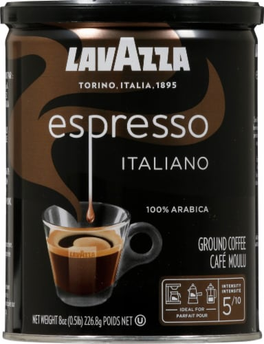 LavAzza Medium Roast Caffe Espresso Ground Coffee Perspective: front