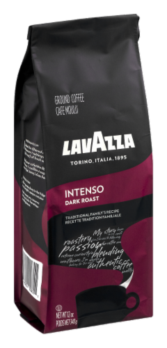 LavAzza Intenso Dark Roast Ground Coffee Perspective: front