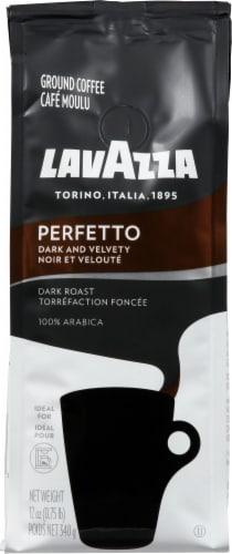 LavAzza Perfetto Dark Roast Ground Coffee Perspective: front