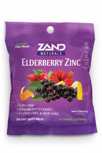 Zand Elderberry Zinc Lozenges Perspective: front