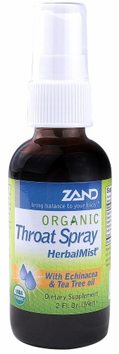 Zand  Organic Throat Spray HerbalMist Perspective: front