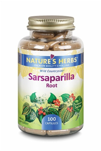 Nature's Herbs Sarsaparilla Root Capsules Perspective: front