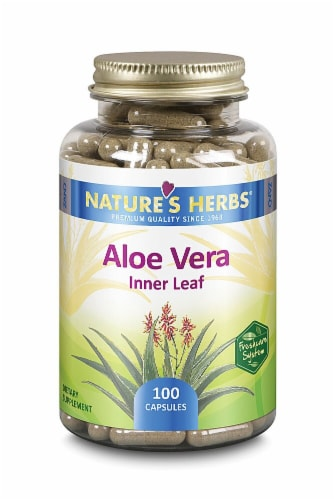 Nature's Herbs Aloe Vera Innerleaf Capsules Perspective: front