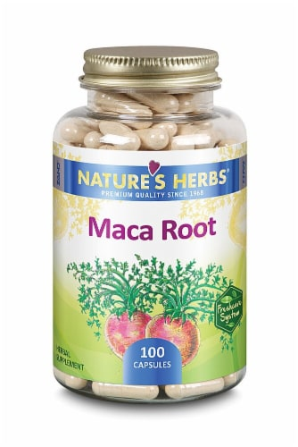 Nature's Herbs Maca Root Capsules Perspective: front