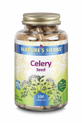 Nature's Herbs Celery Seed Capsules Perspective: front