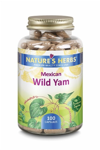 Nature's Herb Mexican Wild Yam Capsules Perspective: front