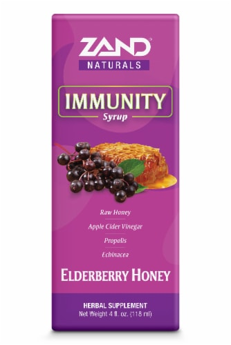Zand Elderberry Honey Immunity Syrup Perspective: front