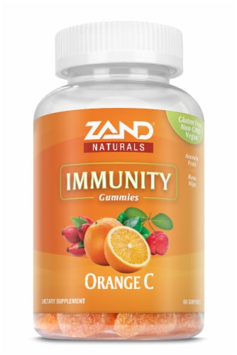 Zand Orange C Immune Booster Gummies Perspective: front