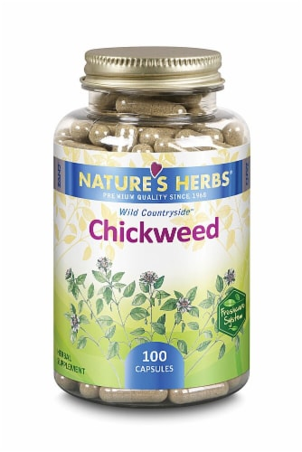 Nature's Herbs Chickweed Capsules Perspective: front