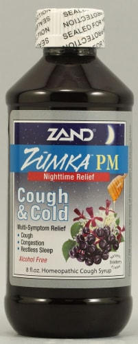 Zand  Zumka™ PM Cough and Cold Homeopathic Cough Syrup   Elderberry Perspective: front