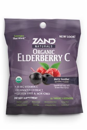 Zand Organic HerbaLozenge Elderberry Echinacea Perspective: front