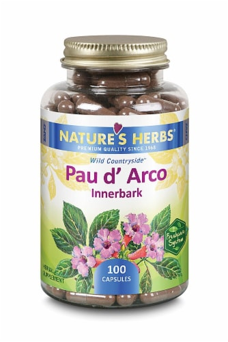 Nature's Herbs  Pau D'Arco Innerbark Capsules Perspective: front