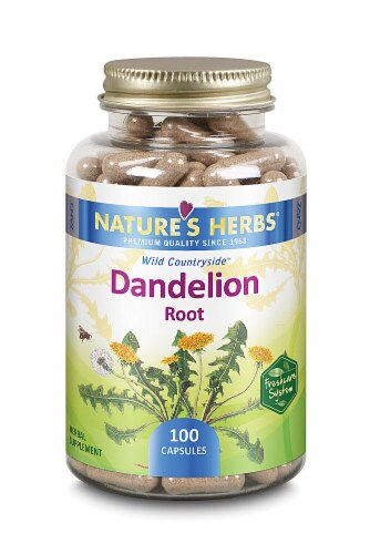Nature's Herbs Dandelion Root Capsules Perspective: front
