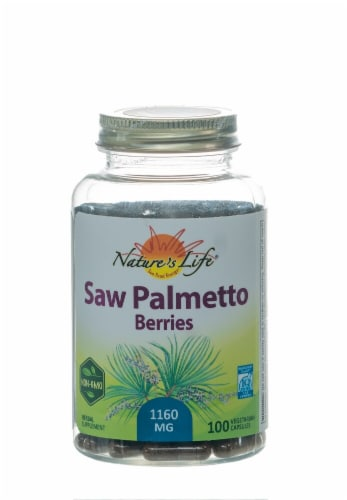 Nature's Herbs Saw Palmetto Berries Capsules Perspective: front