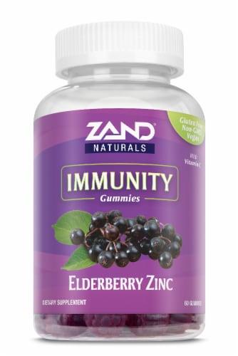 Zand Elderberry Zinc Immune Support Dietary Supplement Gummies Perspective: front