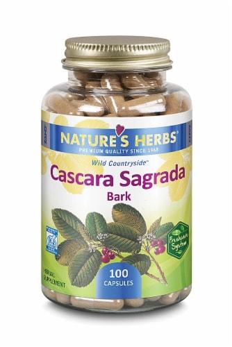Nature's Herbs Cascara Sagrada Bark Capsules Perspective: front