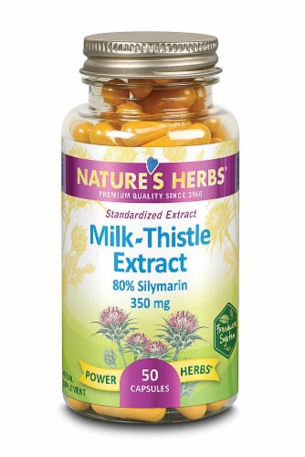 Nature's Herbs 350 mg Milk Thistle Extract Capsules Perspective: front
