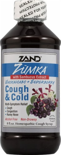 Zand  Zumka™ Cough and Cold Homeopathic Cough Syrup   Natural Elderberry Perspective: front