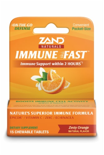 Zand Orange Immune Support Chewable Tablets Perspective: front