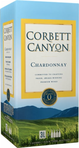 Corbett Canyon Chardonnay White Wine Perspective: front