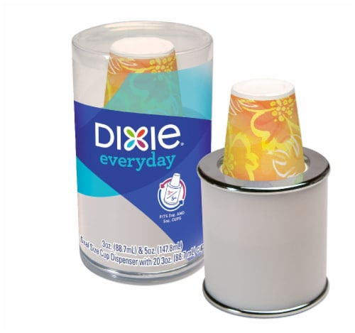 Dixie Everyday Dual Size Cup Dispenser and Paper Cups Perspective: front