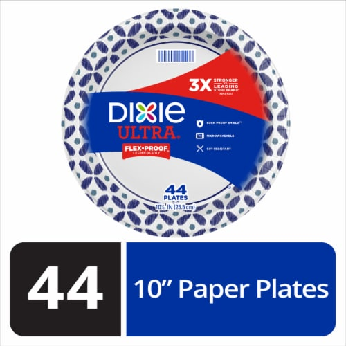 Dixie Ultra Disposable 10.6-Inch Printed Paper Plates Perspective: front