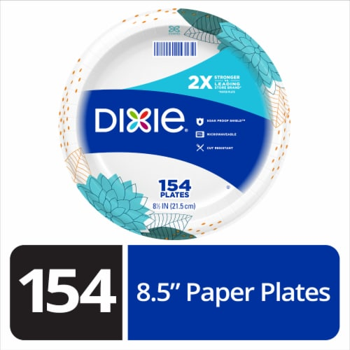 Dixie 8.5 Inch Everyday Disposable Printed Paper Plates Perspective: front