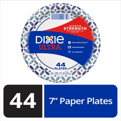 Dixie Ultra Built Strong Paper Plates 44 Count Perspective: front