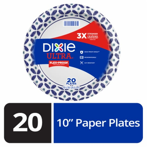 Dixie Ultra Printed Disposable Paper Plates Perspective: front