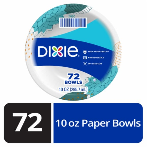 Dixie Everyday Printed Paper Bowls 72 Count Perspective: front