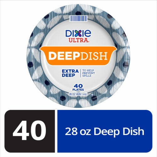 Dixie Ultra Deep Dish 9 9/16-Inch Printed Paper Plate Perspective: front