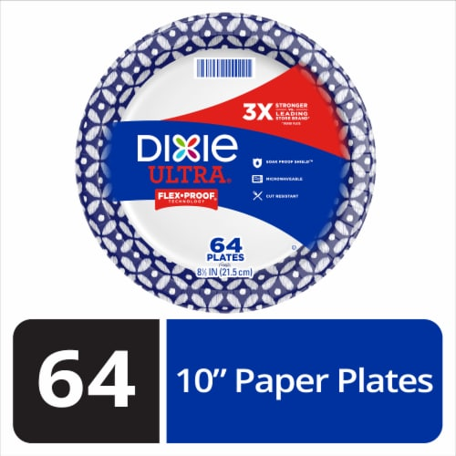 Dixie Ultra Built Strong 10 Inch Paper Plates Perspective: front