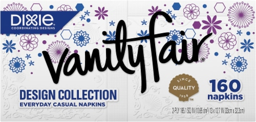 Vanity Fair Design Collection Everyday Paper Casual Napkins Perspective: front