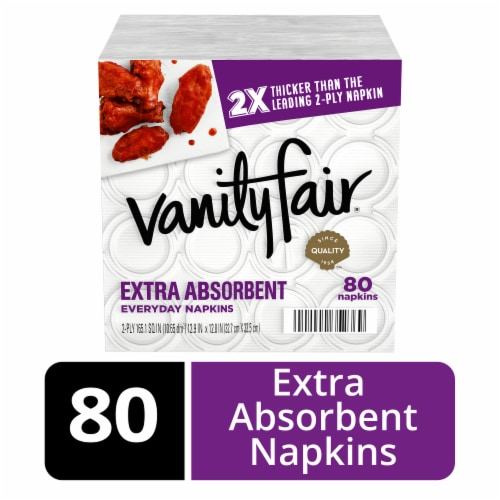 Vanity Fair Extra Absorbent White Paper Napkins Perspective: front